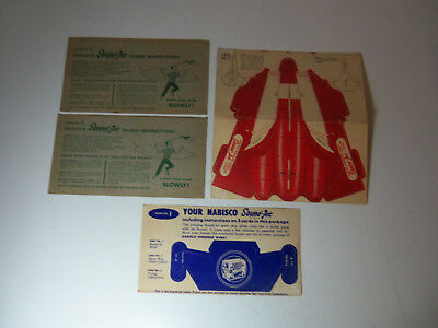 1950's Lot 4 Cards NABISCO SOUND-JET UnUsed SHREDDED WHEAT Punch-Out Premium