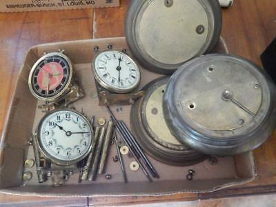 Anniversary Clock Lot X 3, Parts, Pieces, for Repair or Restorations! As Shown!