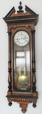 walnut cased double weight vienna wall clock