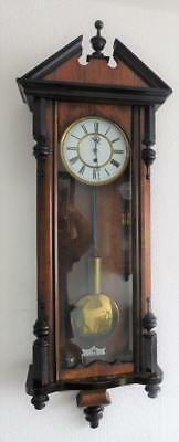 walnut cased single  weight vienna wall clock
