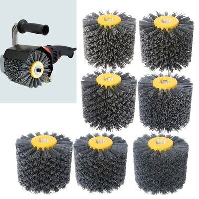 Abrasive Deburring Wire Drawing Round Brush Head Polishing Grinding Buffer Wheel