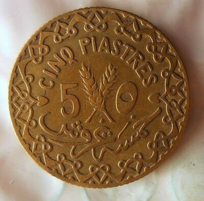 1926 SYRIA 5 PIASTRES - Excellent Hard to Find Coin - Low Mintage - Lot #714