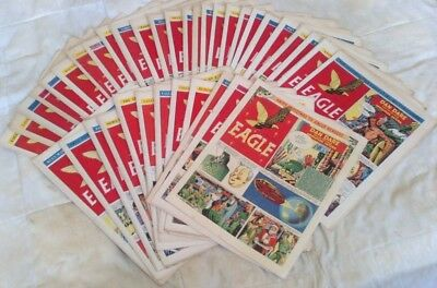 Eagle comic Volume 4 (1953). Complete set (#1 - 38). GD-VG comics