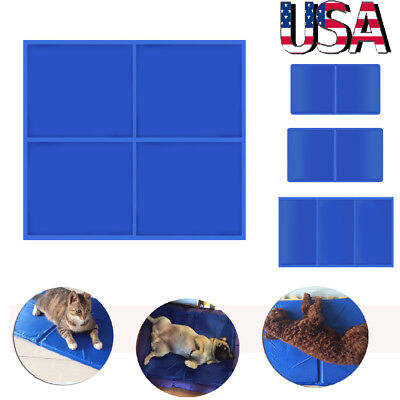 Pet Cooling Mat Cool Gel Pad Cooling Pet Bed for Summer Dog Cat Puppy M L XL XXL