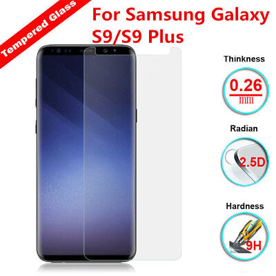 For Samsung Galaxy S9 S9 Plus Real Tempered Glass Screen Protector HD Clear Film