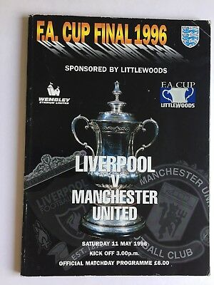 Manchester United V Liverpool Fa Cup Final 11Th May 1996