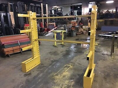 6' Tall Jarke Cantilever Racking , 2 Tower Set 6' Wide Overall For 8-12' Stock