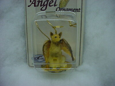 AUSTRALIAN CATTLE DOG ANGEL Ornament HAND PAINTED FIGURINE Christmas red heeler