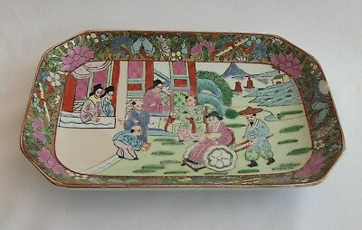 Famille Rose Chinese Small Plate - Hand Painted - Signed