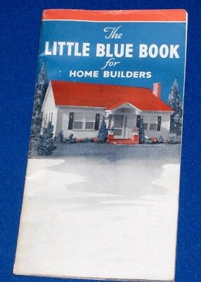 Garlinghouse Little Blue Book for Home Builders c1930s Floor Plans Architecture