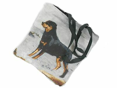 Best Friends by Ruth Maystead Rottweiler Woven Zippered Tote Bag Rotti