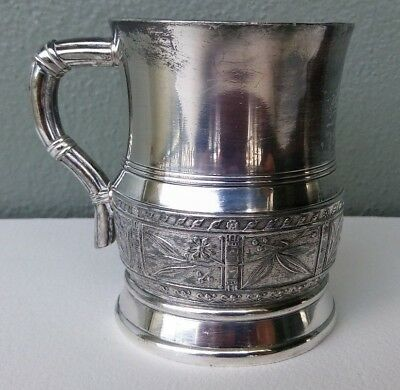 Pairpoint - Antique Aesthetic Period Silver Plated Mug - 1889