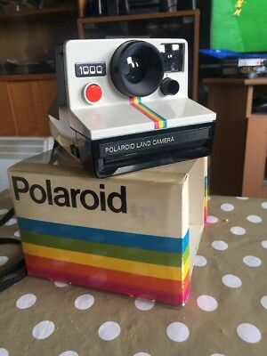 Polaroid 1000 Red Button Instant Camera Working