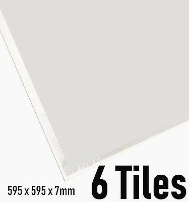 Suspended Vinyl Ceiling Tiles 600x600 Plain PVC White EasyClean Wipeable 595x595