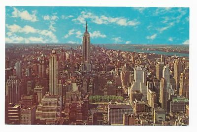 New York City - Empire State Building and New York City skyline- Ansichtskarte