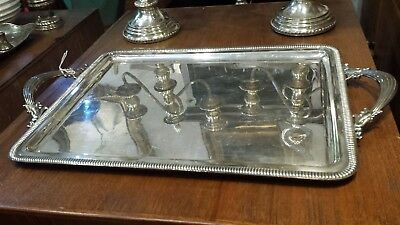1160g COLLECTION STERLING SILVER HANDLE TRAY PEARL STYLE
