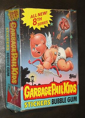 1987 Garbage Pail Kids 8Th Series Box 48 Pks Nm Condition Rare Sealed Box 80's
