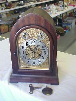 Antique Seth Thomas Chime Westminster Beehive Cathedral Mantle Clock FANCY DIAL