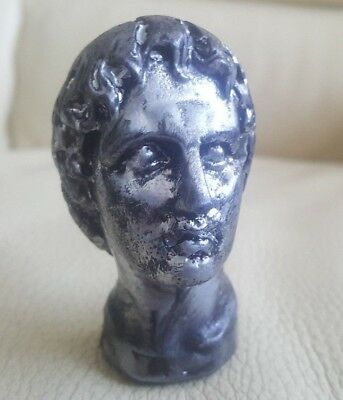 Alexander the Great Ancient Greek Macedon King Cold Casting Antique Silver Bust
