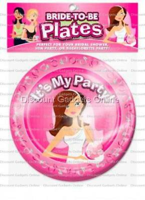 Ball & Chain Bride To Be Plates Novelties Party / Fun Serving Ware