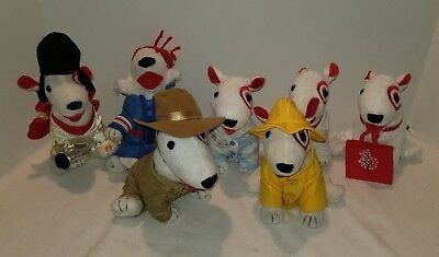 Target Bullseye Plush Dog Lot of 7