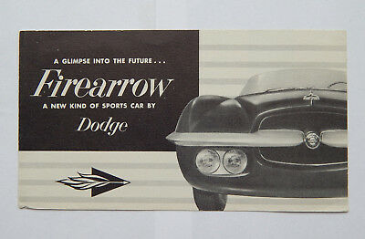 1954 Dodge Firearrow a New Kind of Sports Car Brochure