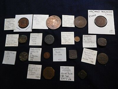 K1 India Mewar & Princely States Coppers Mixed Group 14 pcs