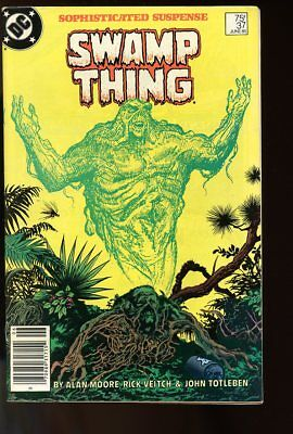 SAGA OF THE SWAMP THING #37 FINE 1st JOHN CONSTANTINE 1985 DC COMICS