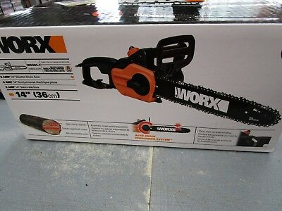 """WG305.1 WORX 8 Amp 14"""" Electric Chain Saw Brand NEW FREE Shipping"""