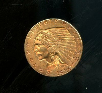 Amazing 1925-D United States Indian Head Quarter Eagle (2 ½) Gold Coin FX274