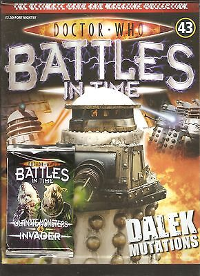 Doctor Who Battles In Time # 43 Dalek Mutations + 1 Pack Of Trading Cards [N2]