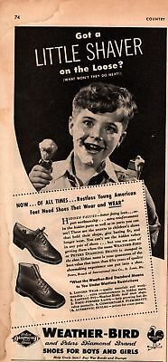 1943 Country Gentleman Magazine Advertisement Weather-Bird Shoes 1Page A411