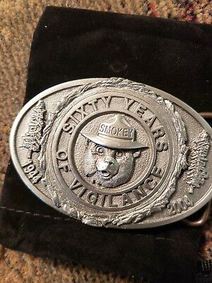 SMOKEY'S  Pewter Smokey Bear Belt Buckles. LIMITED NUMBER . Pick one  from 3.