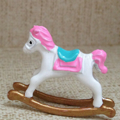 Metal Rocking Horse for 1:12 Dollhouse Miniature Nursery Room Decoration
