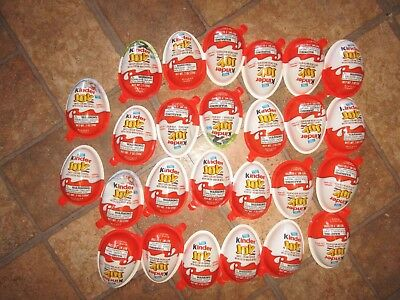 Lot of 26 KINDER JOY TOYS / UNOPENED - toys ONLY, no chocolate !!!!!