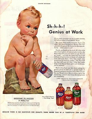 1943 Country Gentleman Magazine Advertisement Karo Syrup 1Page A416