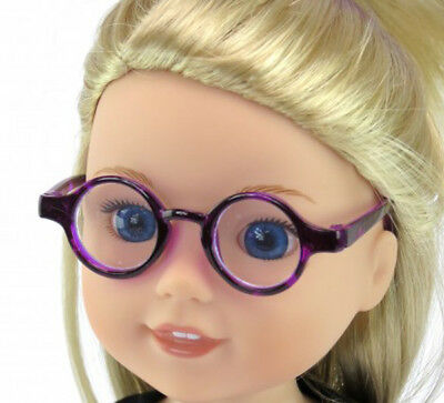 Reading Glasses Purple For 14 inch Wellie Wishers American Dolls Accessories
