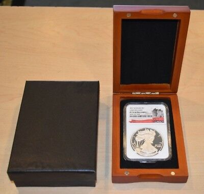 2017 W $1 Silver Eagle PF70 Ultra Cameo NGC 225th Anniversary .999 1oz In Box