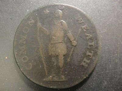 1787 Massachusetts Colonial Copper. VG Details. (metal detector discovery).