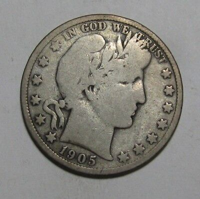 1905 S Barber Half Dollar - Very Good to Fine Condition - 224SA