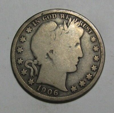 1906 O Barber Half Dollar - Very Good + Condition - 226SA
