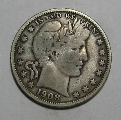 1908 D Barber Half Dollar - Fine Condition - 234SA
