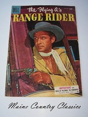 1955 The Flying A's Range Rider Golden Age Dell Western Comic Book