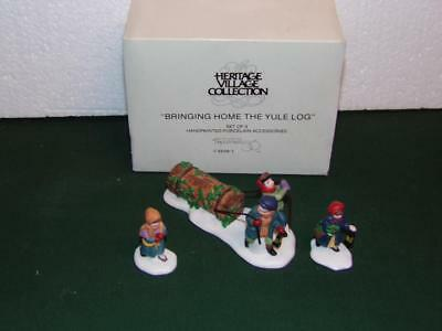 Dept 56 - Dickens Village - Bringing Home the Yule Log-MIB