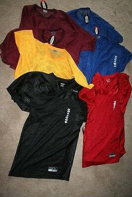 Lot Of 7 -New With Tags Mens Mesh Athletic Jerseys-Short And Long Size M