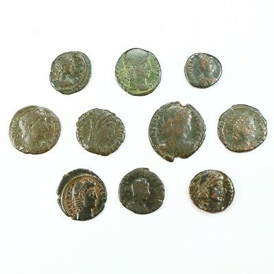 Ten (10) Nicer Ancient Roman Coins c. 100 - 375 A.D. Exact Lot Shown rm2919