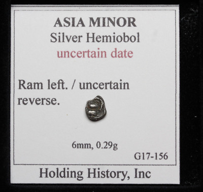 ASIA MINOR. Silver Hemiobol, Ram head / Uncertain