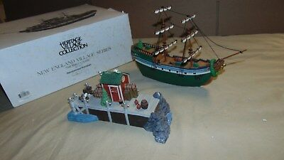 Dept. 56 Christmas In The City 56581 The Emily Louise Ship & Dock In Original Bo