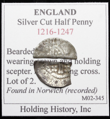 ENGLAND. Hammered Silver Cut Half Penny, Voided long cross and short cross lot