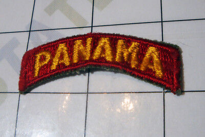 wwii WW2 PATCH embroidered US USA red arc arch * PANAMA * Panama Canal Army